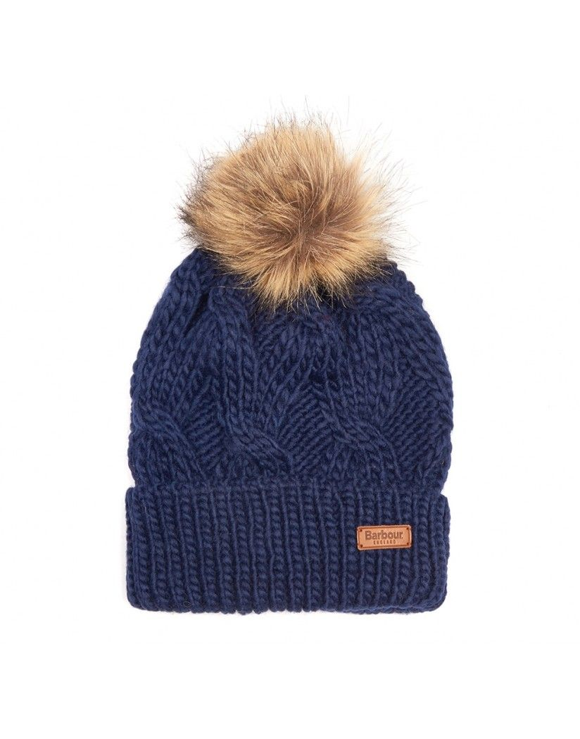 f68ab509 It's never too soon to get your winter essentials and this cute Barbour  Women's Ashridge Beanie Hat in Navy is the very definition of 'must-have'.