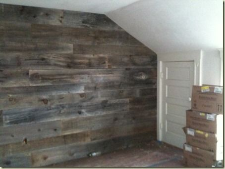 Barnwood Wall Modern Log Cottage Pinterest Focal Wall Basements And Walls