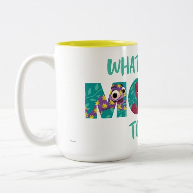 Tangled | Pascal - What's Your Mood Today? Two-Tone Coffee Mug | Zazzle.com #disneycoffeemugs