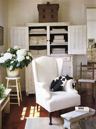 Love the chair and cabinet