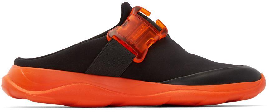 Christopher Kane: Black Neoprene Slip-On Sneakers | SSENSE
