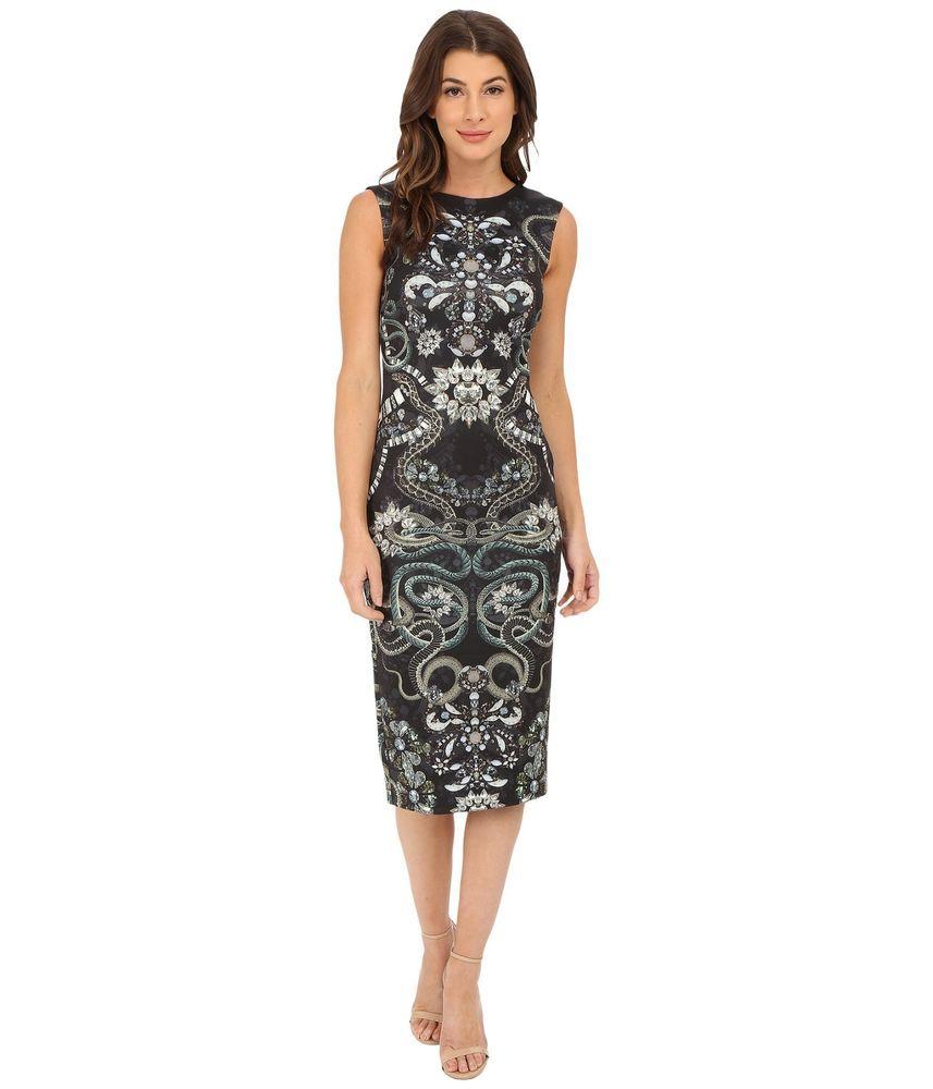 30d5b6e5f310 TED BAKER  295 NEW Bellia Gem Snake Jewel Print Bodycon Sheath Dress Size 3  (8)  TedBaker  SheathDressBodyconDress  AnyOccasion