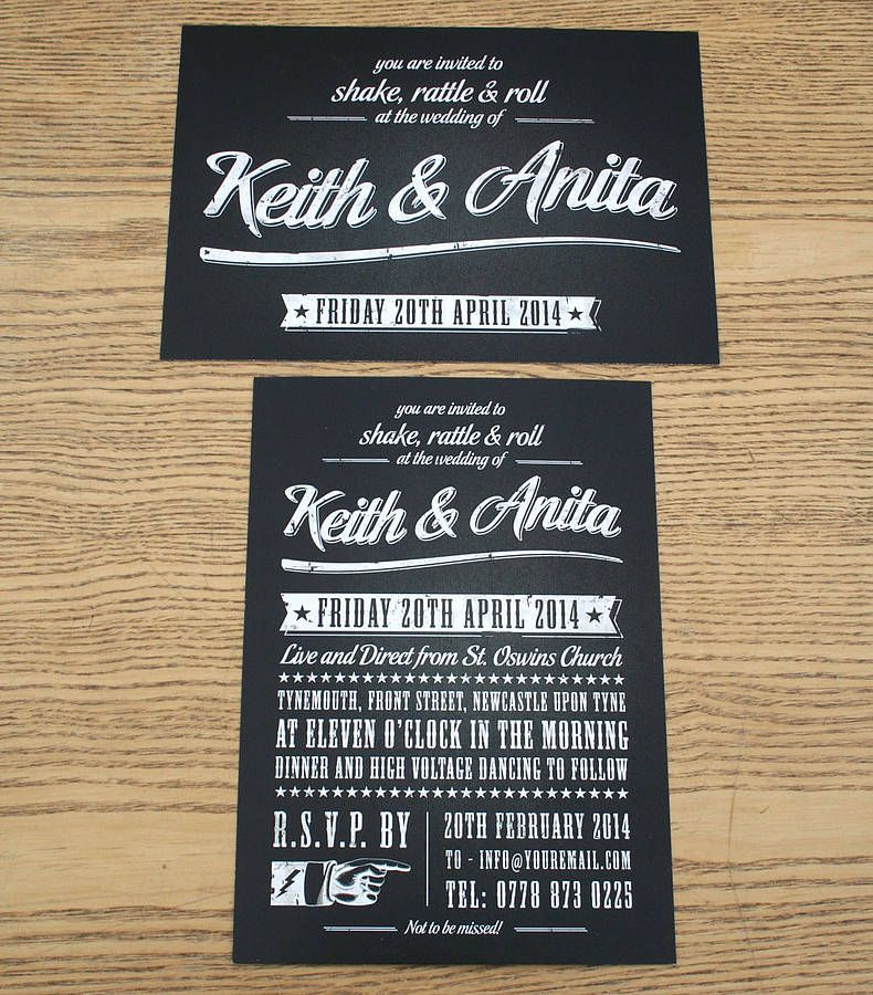 Rock N Roll Wedding Cards