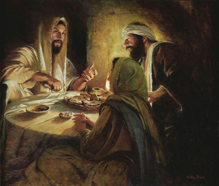 This painting depicts the supper at Emmaus described in Luke 24 ...