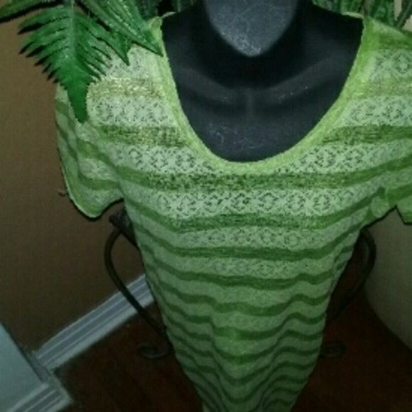 BKE top A green in color see thru top made of cotton and polyester new. BKE  Tops Tees - Short Sleeve