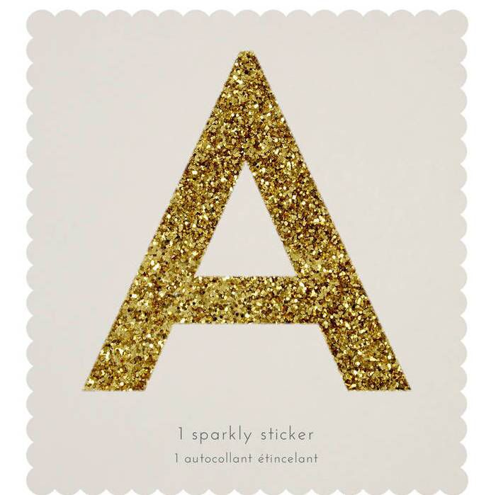 giant gold sparkle letter stickers