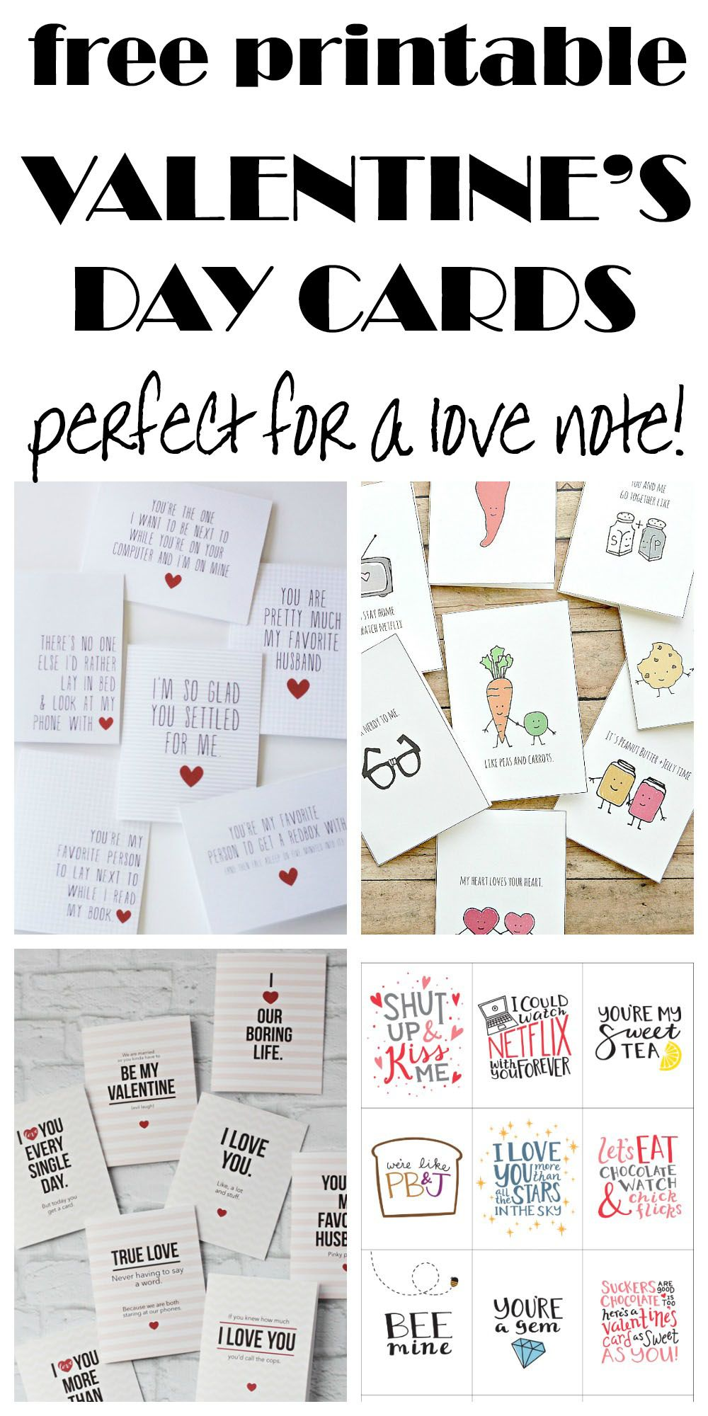 Funny and cute free printable cards perfect for a love note