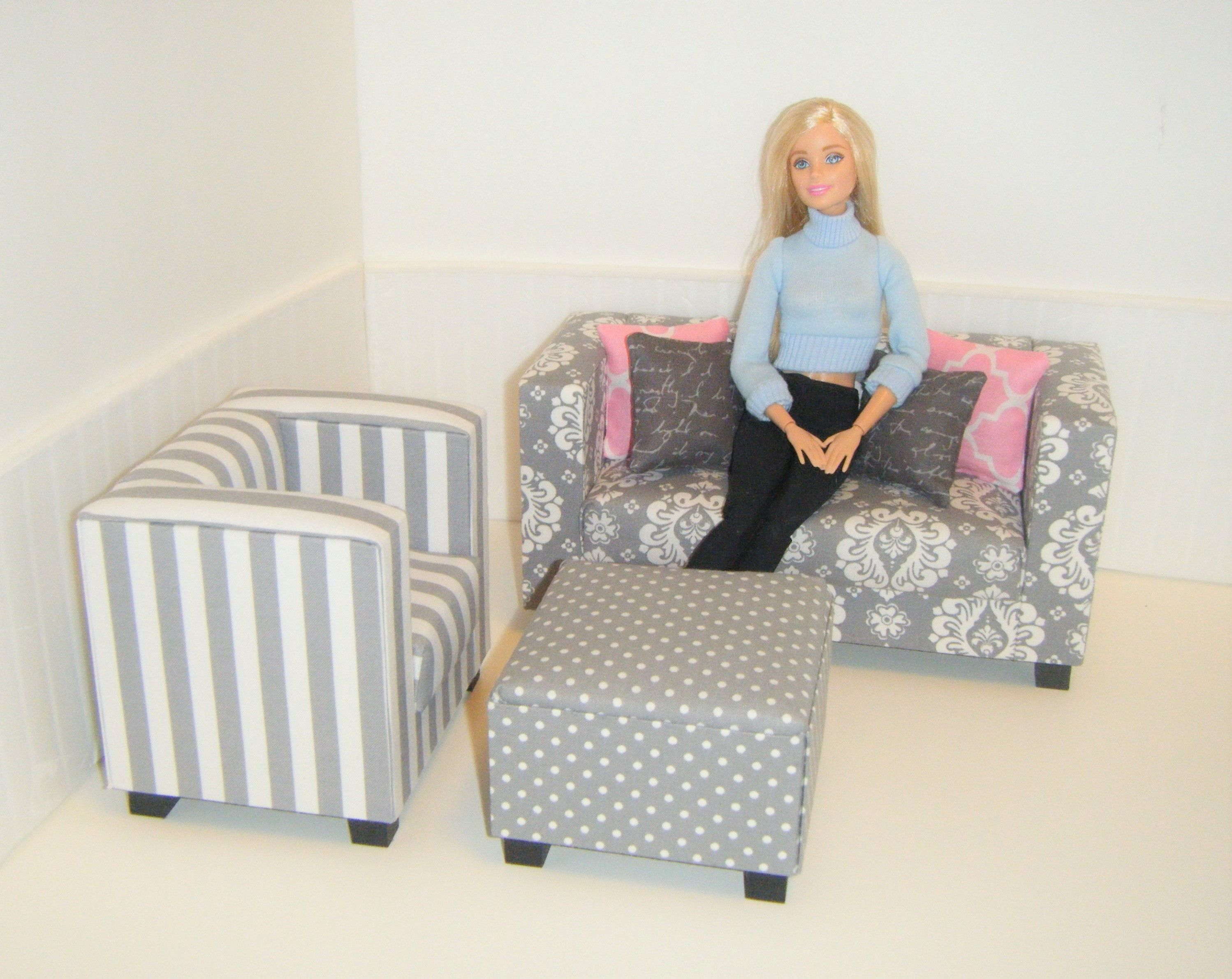 Barbie living room | Barbie and Fashion Royalty Diorama Furniture ...