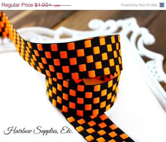 Hey, I found this really awesome Etsy listing at https://www.etsy.com/listing/81508995/sale-orange-and-black-jacquard-checked