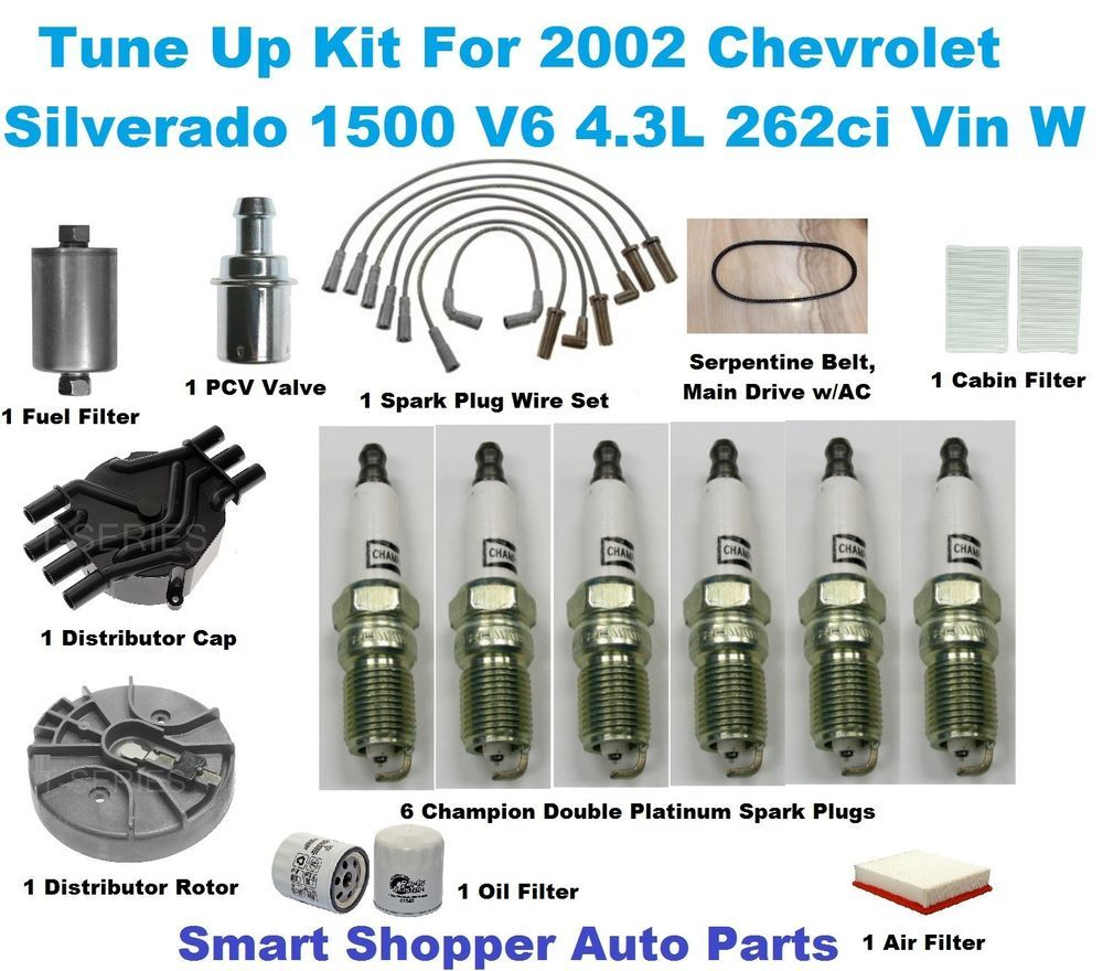 Details About Tune Up Kit For 2002 Chevrolet Silverado 1500 Spark