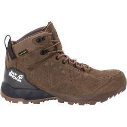 Jack Wolfskin Waterproof Men Wanderschuhe Cascade Hike Backlength Texapore Mid Men 47 Brown Jac