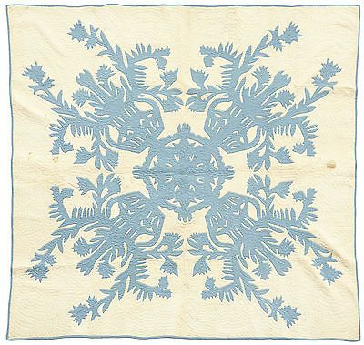 RARE HAND STITCHED 1920\'S HAWAII QUILT \