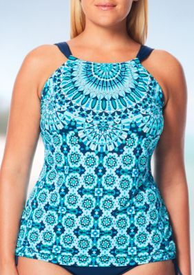 c539f8edae Beach House Plus Size Mystic Beach Hi Neck Tankini Swim Top in 2019 ...