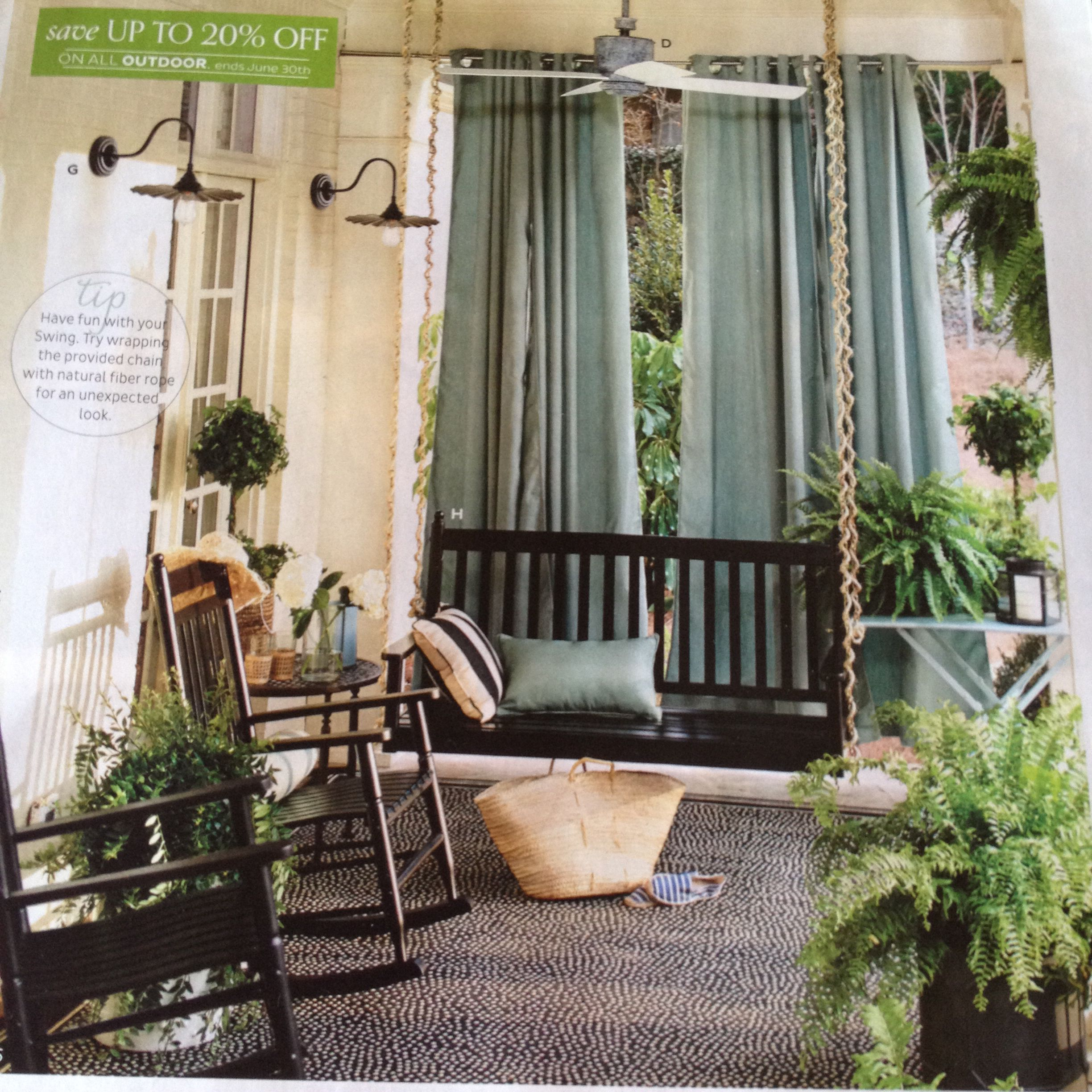 porch inspiration from ballard designs outdoor furniture on porch swing ideas inspiration id=73523