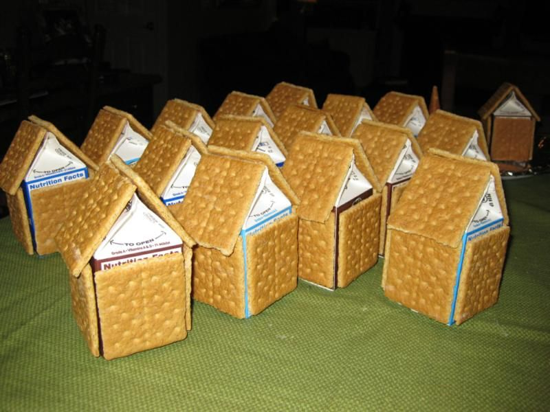 How to make a home for the holidays snacks minis and for How do you make a gingerbread house