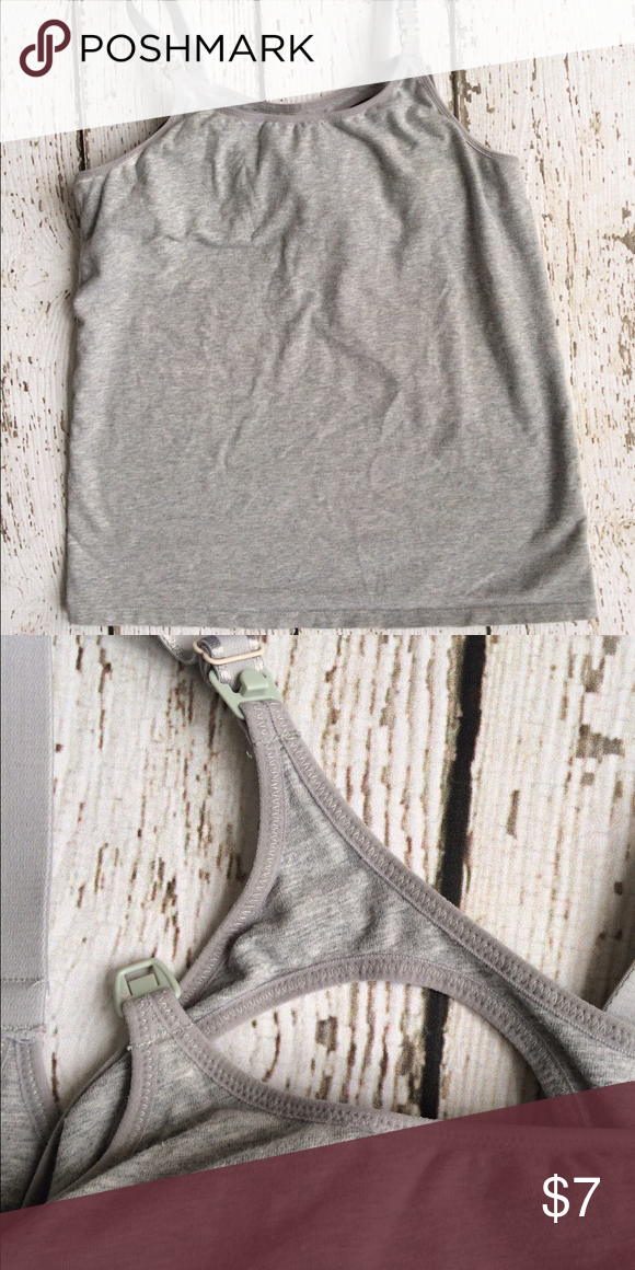 Nursing Tank Tops Gray nursing tank tops. Gillian O'Malley. Size small. Two available! Bundle with the black yoga pants for incredible comfort during pregnancy & postpartum. Ships same or next day. Gilligan & O'Malley Tops Tank Tops