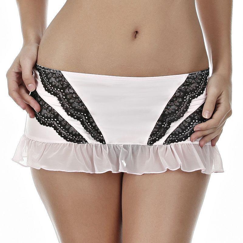 Jezebel Amanda Lace Lingerie Skirt 69004 - Women's, Size: Medium, Black