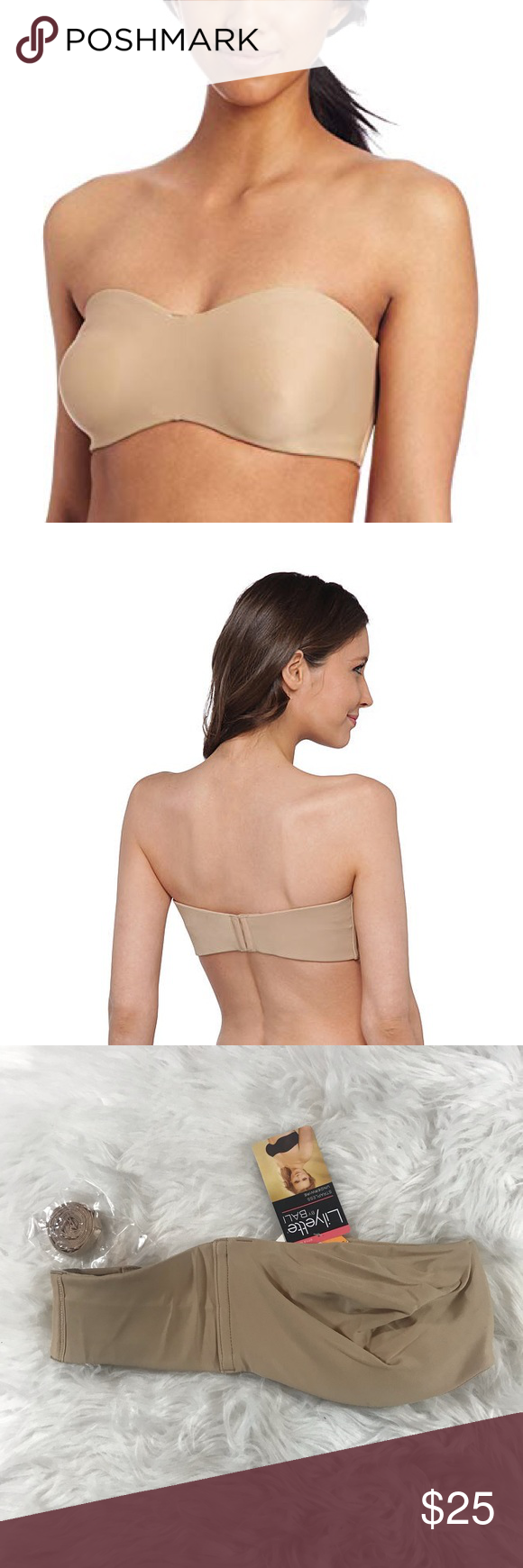 240d47208b NWT Lilyette by Bali Strapless Minimizer Bra 34DD Brand new with tags  minimizing strapless bra from Lilyette by Bali. Size 34DD. Great support!