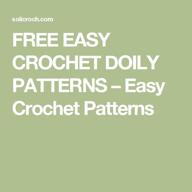 FREE EASY CROCHET DOILY PATTERNS – Easy Crochet Patterns   Crochet ...