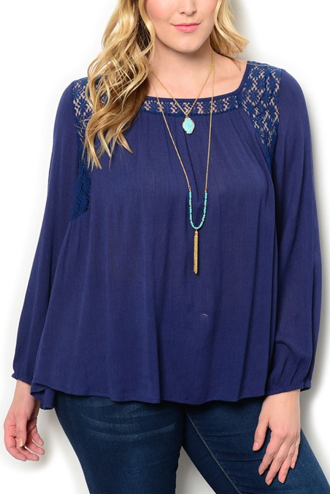 http://www.dhstyles.com/Navy-Plus-Size-Dressy-Sheer-Paneled-Floral-Lace-Tr-p/kati-8839x-navy.htm