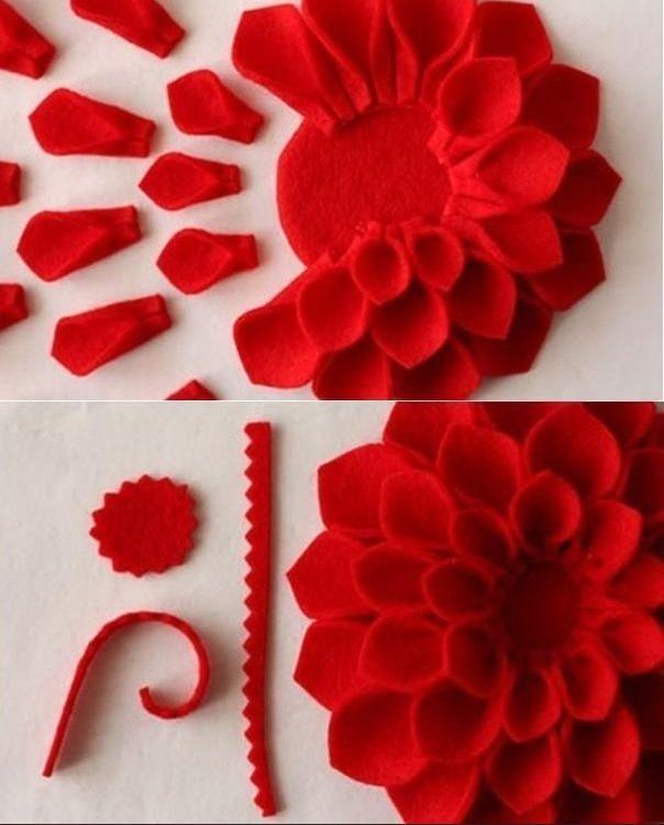 C mo hacer flores de fieltro para decorar un coj n - Hacer manualidades para decorar ...