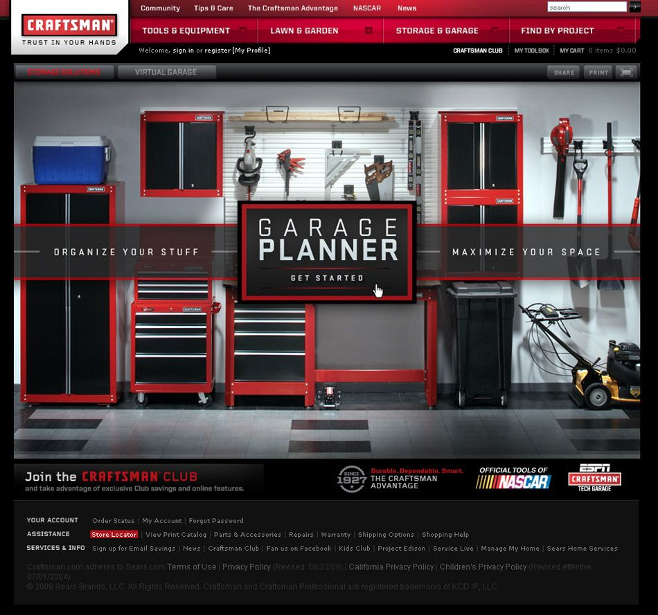 Superb Craftsman Garage Planner #7: CLIENT: CRAFTSMAN A Premium Garage Storage Planning Experience Combining  Environments, Video And A Shoppable Inspiration Photo