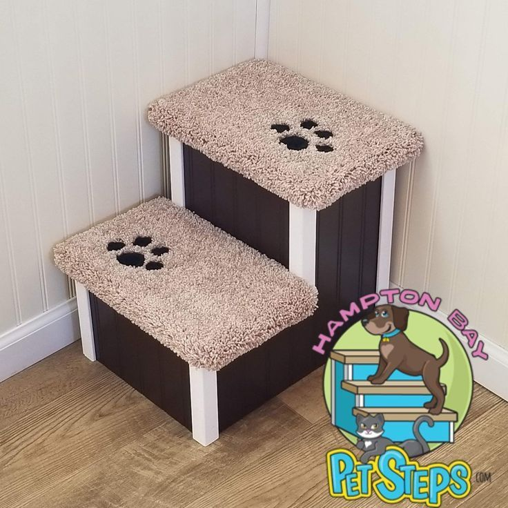Wobble Resistant Wood Dog Stair by Hampton Bay Pet Steps