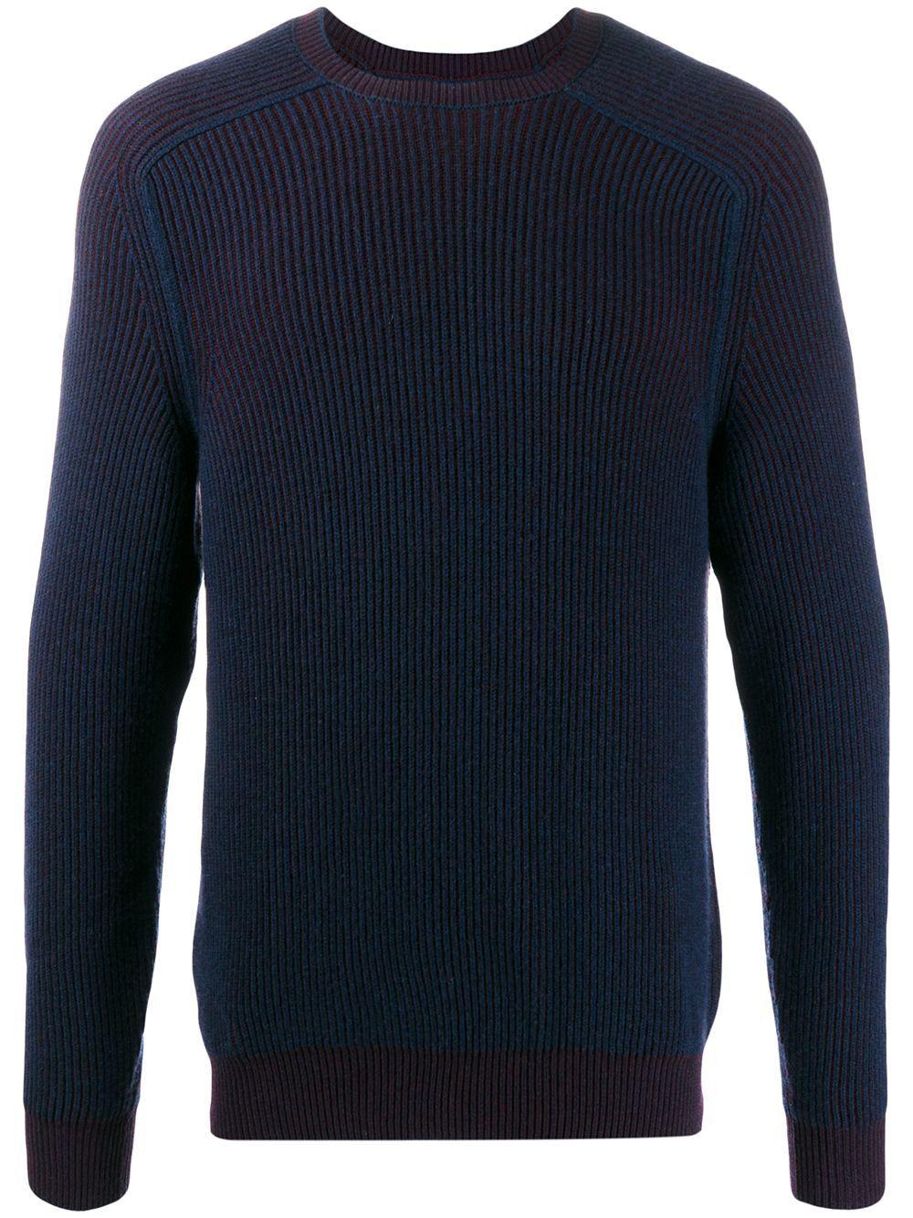 Sease cashmere reversible knit jumper - Blue