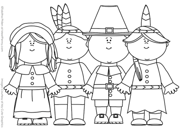 interactive thanksgiving coloring pages - photo#22