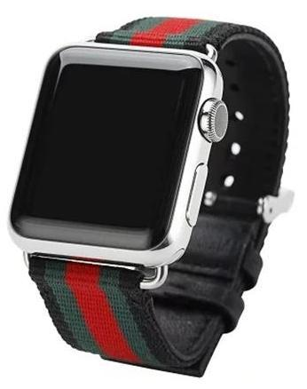 8d227d5c728 Eye-catching color striped design inspired by the big luxury brand Gucci  for your 38mm or 42mm Apple watch. Fits all Series 1