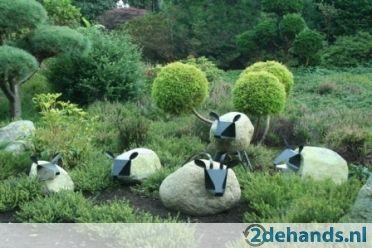 Betonnen Tuinbeelden Schaap.Schapen Van Zwerfkeien Ornament Tuinbeeld Tuin Ideeen