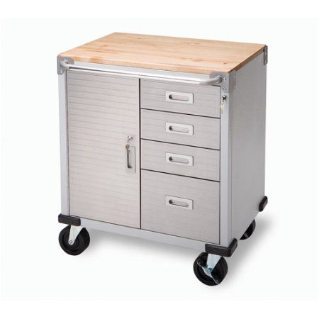 Buy Seville Classics UltraHD Rolling Storage Cabinet With Drawers At  Walmart.com