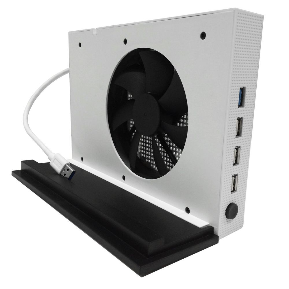 Xbox One S Accessories Vertical Stand With Cooling Fan And 4 Ports