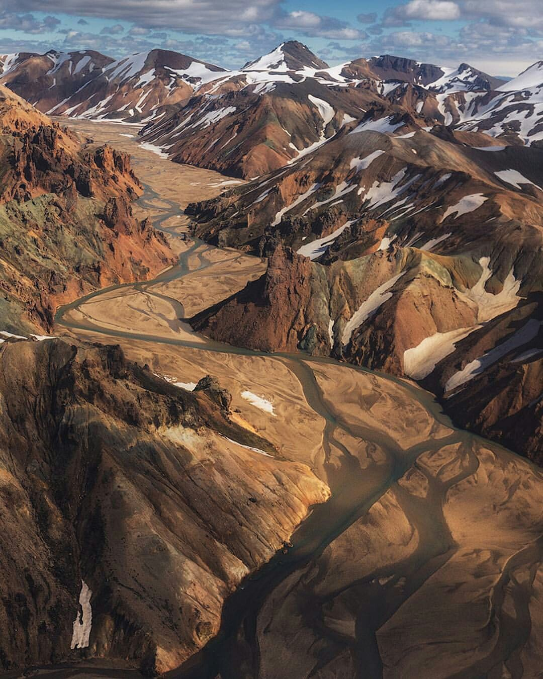 Bird's Eye View Of The Iceland Highlands
