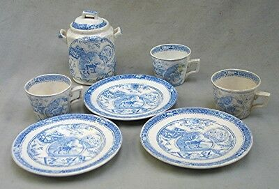 Vintage Children's China Tea Set — Blue and White Transfer Ware  | eBay Balcony