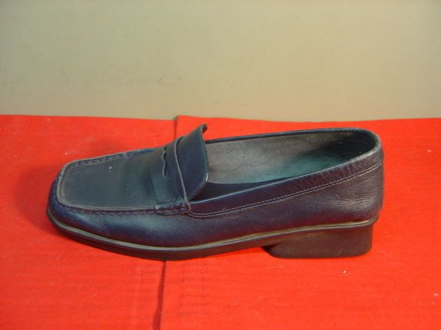 Womens AEROSOLES Navy Leather Penny Loafers Size 6M #Aerosoles #LoafersMoccasins