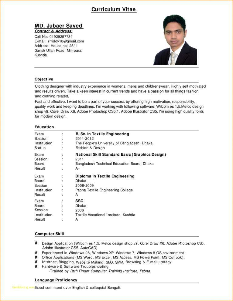 Free Resume Templates For Job Application Resume Examples Job Resume Format Curriculum Vitae Job Resume Template