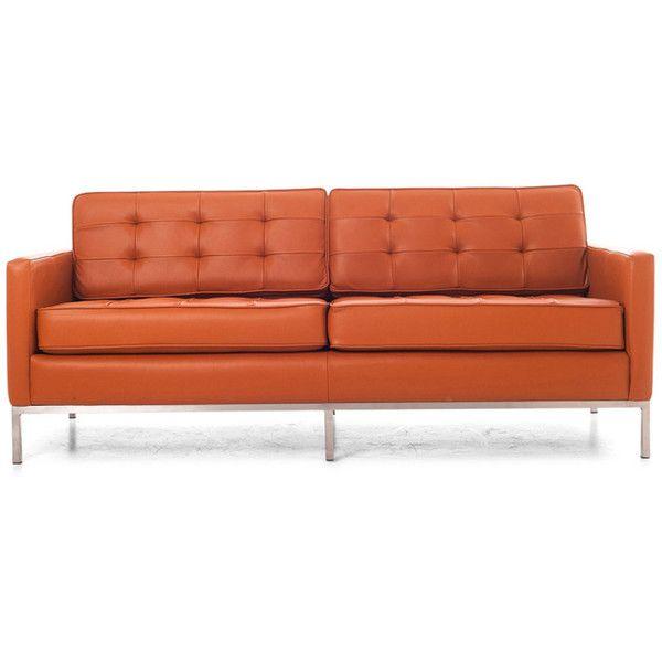 Joybird Furniture Franklin Mid Century Modern Brown Leather Loveseat