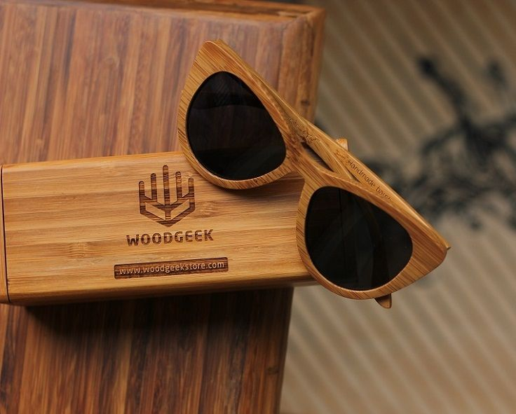 004022e2f3 The Librarian - brown bamboo cateye wooden sunglasses