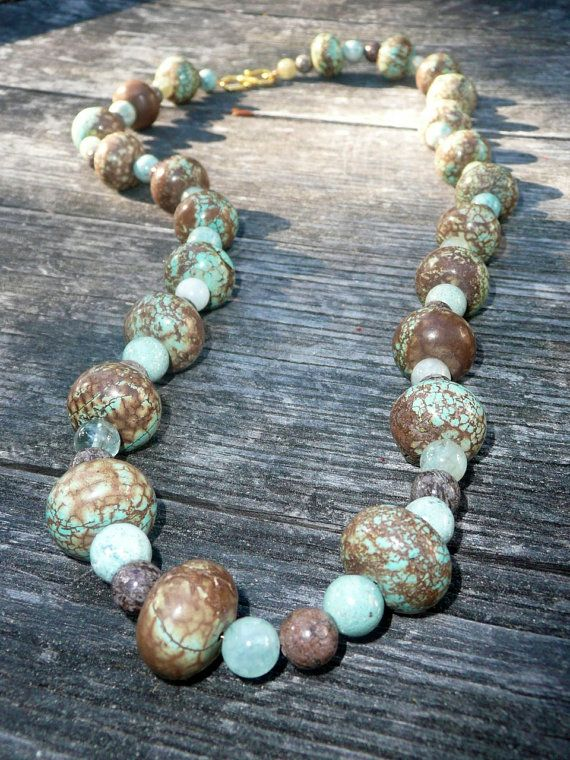 Vari - Turquoise and brown necklace