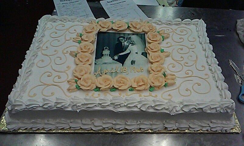 50th anniversary sheet cake - Google Search … | Pinteres…