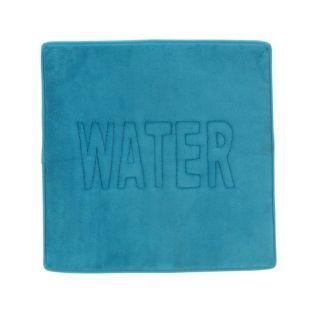 tapis de bain bleu