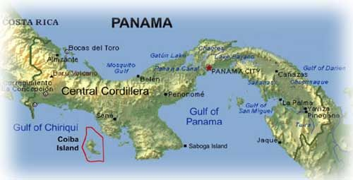 Image result for isla coiba map