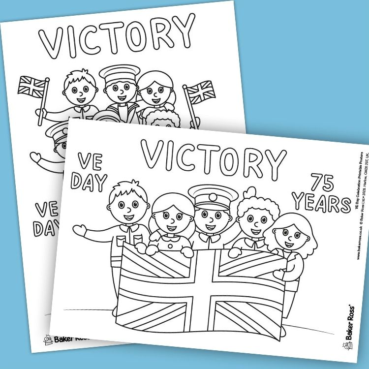 Ve Day Anniversary Colour In Posters Free Craft Ideas Baker Ross In 2020 Puppy Coloring Pages Printables Free Kids Happy Birthday Cards Printable