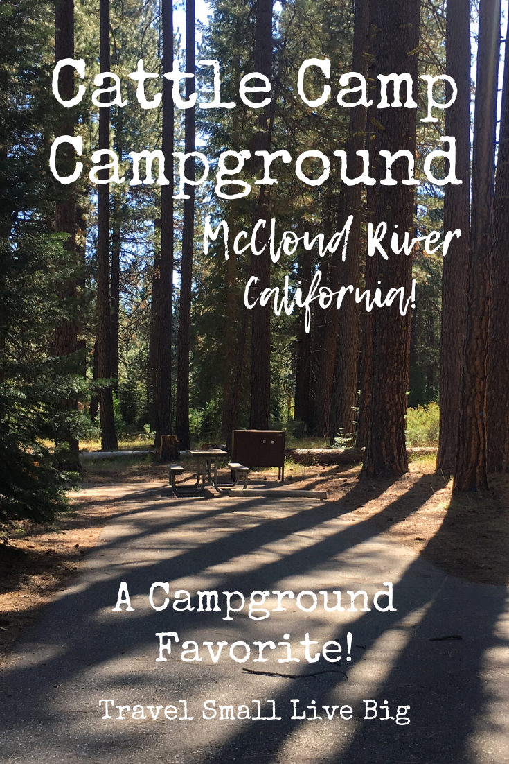 Cattle Campground near the McCloud River in the Shasta ...