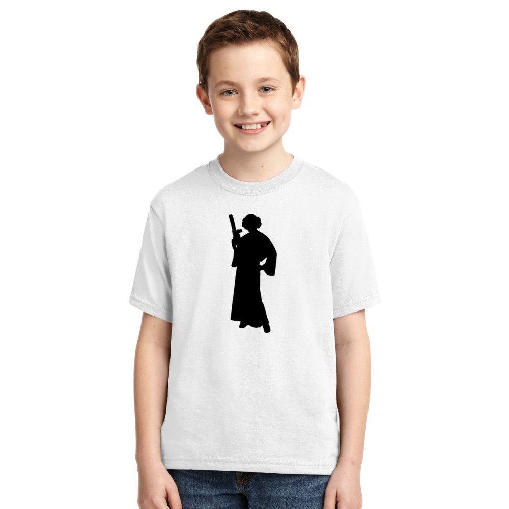 Star Wars Princess Leia Black Youth T-shirt