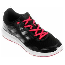 tennis adidas preto e rosa