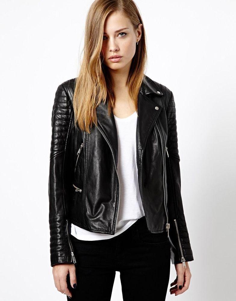 black-leather-jacket | Black Leather Jacket | Pinterest | Women ...