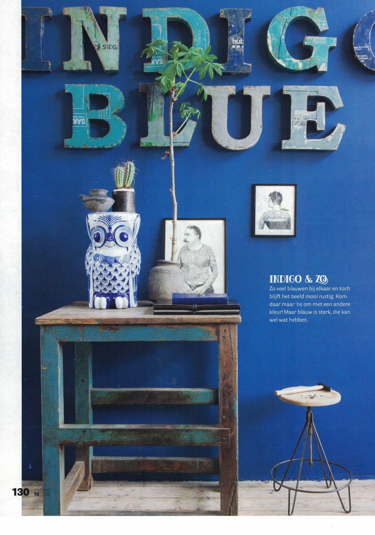 Vt Wonen Nr 10 Autumn Blues Location Raw Materials Raw  # Tendencia Raw Muebles
