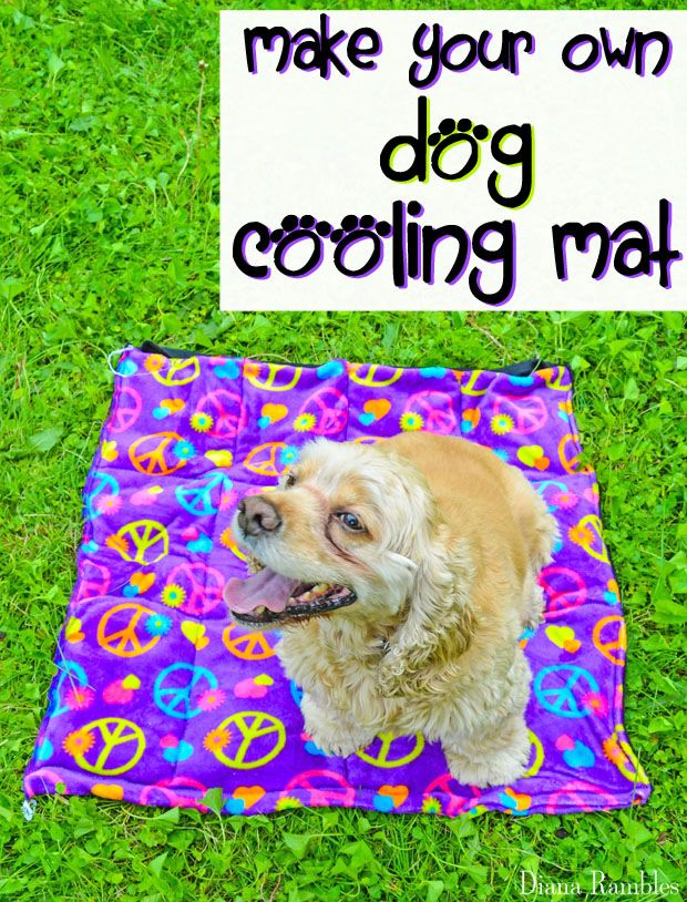 Diy Dog Cooling Mat Sewing Tutorial Need To Keep Your Dog Cooled Off Here Is A Diy Dog Cooling Mat Tutorial T Dog Cooling Mat Summer Dog Diy Stuffed Animals